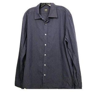 Boss Hugo Boss Navy striped l/s dress shirt  XL